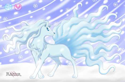 Ninetales Alola - Pokemon Sun and Moon by raptorthekiller