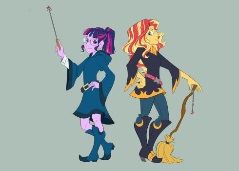 Super Witch Tag Team by Stratus35