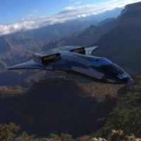Elysium ST-7A In Flight by VanishingPointInc
