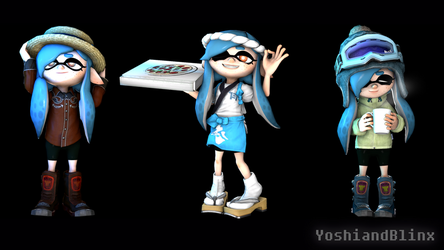 Splatoon Hats Promo Image by YoshiandBlinx