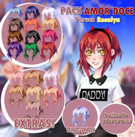 Pack Amor Doce - Peruca Rosalya by LicyAD