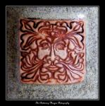 Pottery with a Green Man by Chattering-Magpie