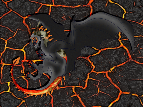 Lava Glass Dragon adopt Open by Darumemay