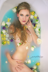 Blue Water and Blossoms by gestiefeltekatze