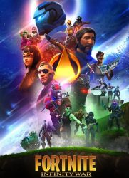 Fortnite x Avengers FanArt Poster by IronWolfNetwork2018