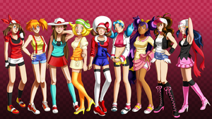 2M hits Pokemon girls by Hapuriainen