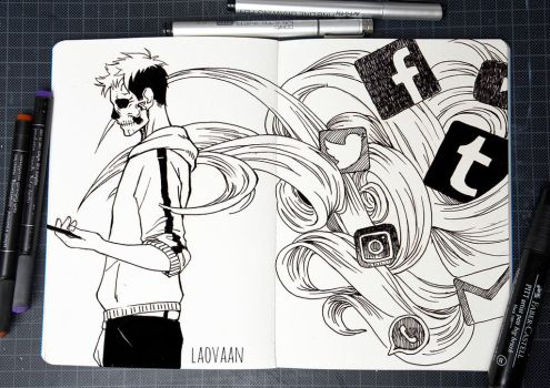 Inktober 2017 - #2  Divided by Laovaan