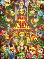 Zelda 30th Anniversary by LinkDoodle