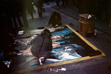 Street Artist in Florence. by edgedolls