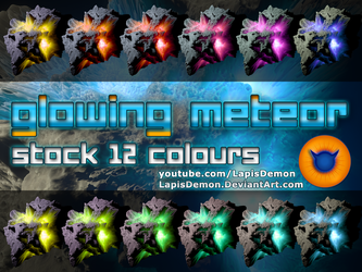 Asteroid Meteor 12 colours Space Stock PNG-ZIP by LapisDemon