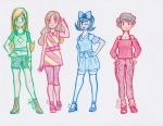Sally Foster Club Go! Main Characters by cherrymeringue