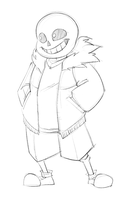 sans sketch by lapinbeau