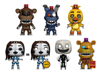 Five Nights in Their World POP! Vinyls (Cinema 4D) by HeroGollum