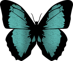 blue butterfly png 2 by yotoots