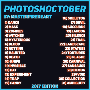 Photoshoctober 2017 by Masterfireheart