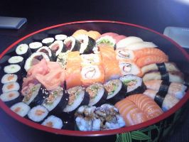 sushi plate by martulka