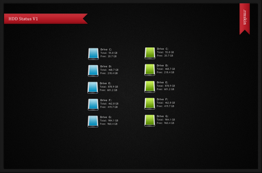 HDD Status V1 by solutionall