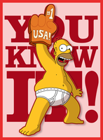 Homer: USA Number One by LeeRoberts