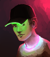 Glowing Hat by SavDraws