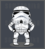 .:Star Wars:.ChibiStormTrooper by SaMtRoNiKa