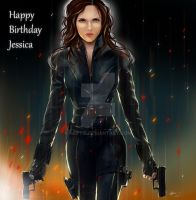 Natasha Romanoff/ Black Widow~ Happy Birthday! by naftie