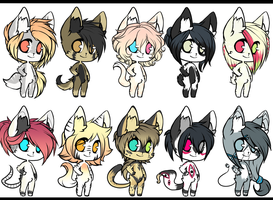 Adopt Batch Cheap 5 - CLOSED by DyeDy