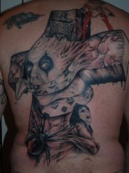 Alice Cooper Back Tattoo Session 4 by CrazeeAce