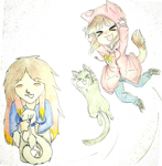 Our cats (collab) by T-Cherry