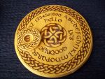 Round Celtic Ouija Board by WOODEWYTCH