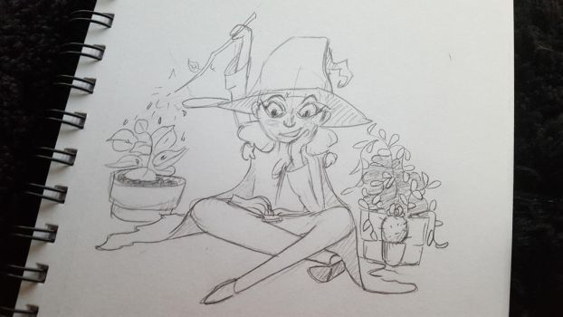 Witch Sketch by imjustamanatee