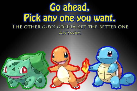 Pick One - Kanto Version by PKMNcalvin
