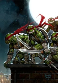 Ninja Turtle Painting by ryanbrown-colour
