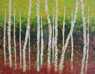 Impressionist Birch Forest by Black-Arrow-Workshop