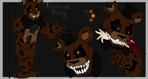 Nightmare Freddy ref sheet by SideshowFreddy