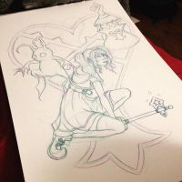 Kingdom Hearts Unchained X Character WIP by Valolove