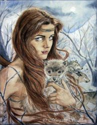 Skadi and the wolves by MargaretSeidler