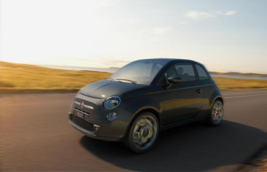 Fiat 500 in motion by Flavius-C