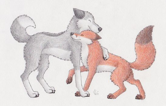 The  Fox and the Wolf by Tienala