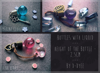 FOR SALE : Liquid Bottles (closed) by D-Dyee