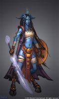 Draenei Female Concept by GlennRaneArt