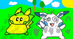 Trampled Silverchu and Kyle by Pikacshu