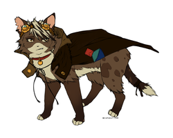 CLOSED- Steampunk cat adopt AUCTION! by Capukat