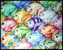 Fish Tessellation by BlackMagdalena