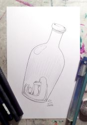 Inktober Day 18 Bottle by Brother-Tico