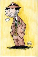Little Man Brown Suit by drawhard