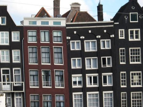 Amsterdam canal houses by Snowflaky