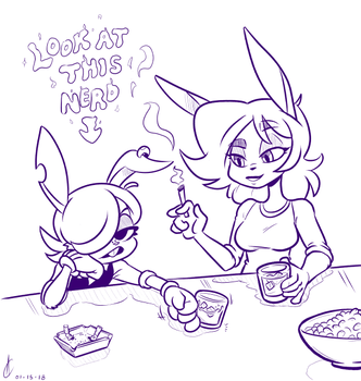 COMM - Two Rabbits Walk into a Bar by Atrox-C