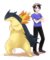 Blake and Typhlosion