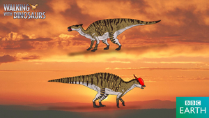 Walking with Dinosaurs: Saurolophus by TrefRex