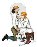 Usopp and Nami Rockwell Parody by Asukawa